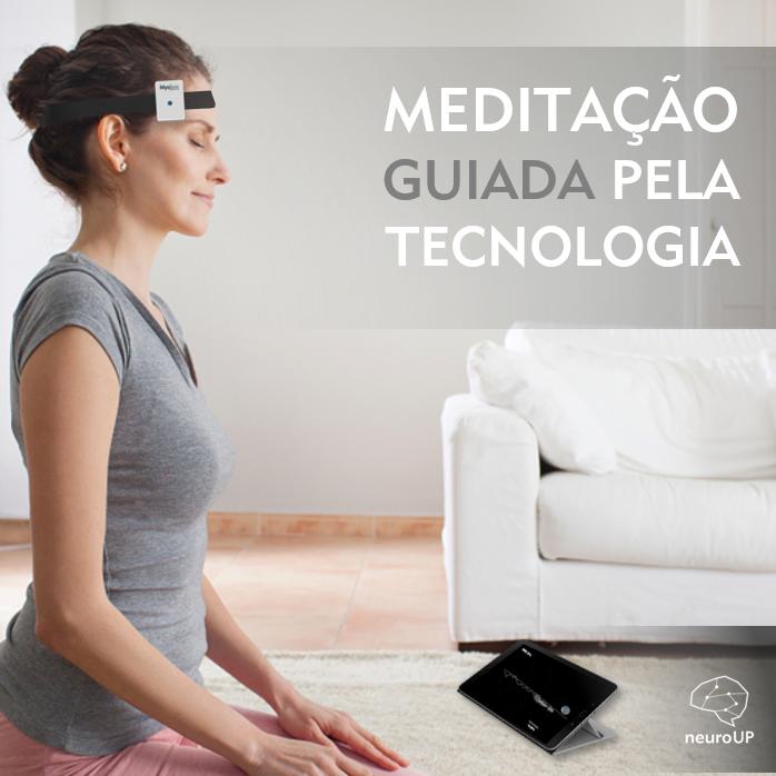 meditação guiada pela tecnologia