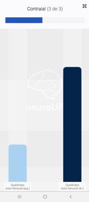 Calibração do aplicativo de Biofeedback por EMG