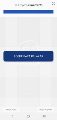 13.1 Toque para iniciar a calibração de relaxamento