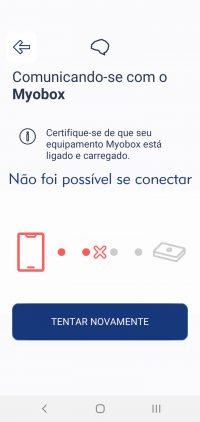 7.6 Desligue e ligue o Myobox